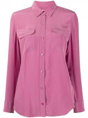 Рубашка с карманами Equipment. Цвет: розовый