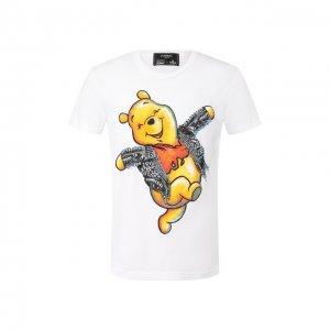 Хлопковая футболка DOMREBEL. Цвет: белый