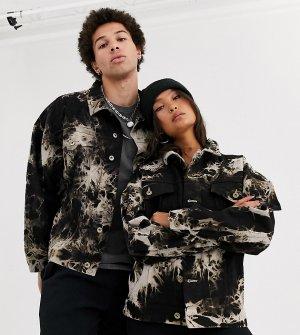 Джинсовая oversize-куртка с принтом тай-дай в стиле унисекс COLLUSION-Мульти Collusion