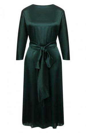 Шелковое платье Alexander Terekhov. Цвет: зелёный