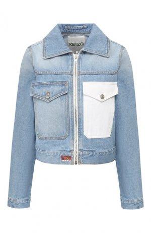 Джинсовая куртка Kenzo. Цвет: голубой