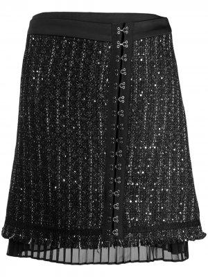 Юбка с блестками Karl Lagerfeld. Цвет: черный