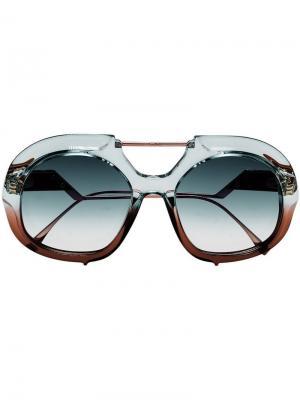 Солнцезащитные очки-авиаторы Tropical Shine Fendi Eyewear. Цвет: синий
