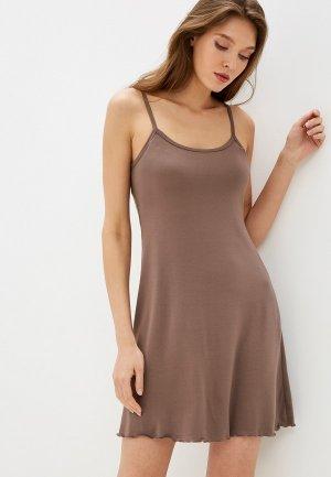 Сорочка ночная Arloni. Цвет: коричневый