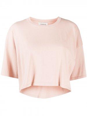 Укороченная футболка Laneus. Цвет: нейтральные цвета