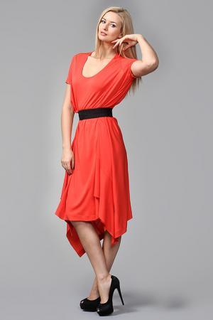 Платье Vionnet. Цвет: коралловый