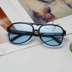 Мужские солнцезащитные очки в геометрической оправе SHEIN. Цвет: синий