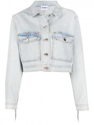 Укороченная джинсовая куртка Ainea. Цвет: синий