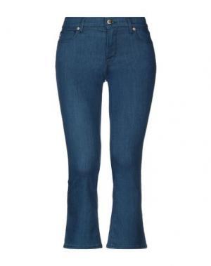 Джинсовые брюки-капри LOVE MOSCHINO. Цвет: синий