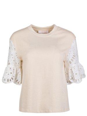 Хлопковая блуза SEE BY CHLOE