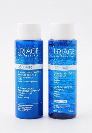 Набор для ухода за волосами Uriage Шампунь против перхоти, 200 мл,  Мягкий балансирующий ежедневного применения, мл. Цвет: прозрачный