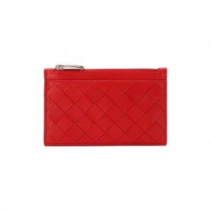 Кожаный футляр для ключей Bottega Veneta. Цвет: красный