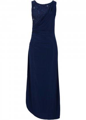 Вечернее платье макси bonprix. Цвет: синий