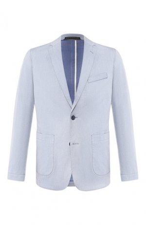 Хлопковый пиджак Drykorn. Цвет: голубой