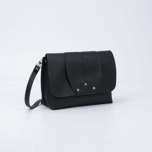 Мессенджер, отдел на клапане, наружный карман, длинный ремень, цвет чёрный TEXTURA