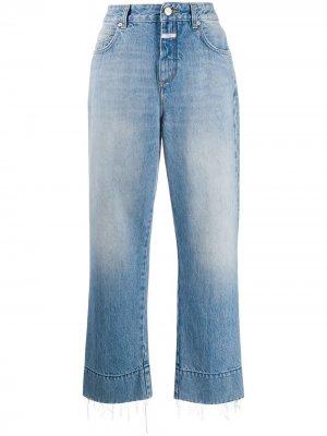 Укороченные джинсы широкого кроя Closed. Цвет: синий