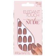 Матовые накрашенные накладные ногти коллекции «Nude» Nude Collection Nails — Mink Elegant Touch