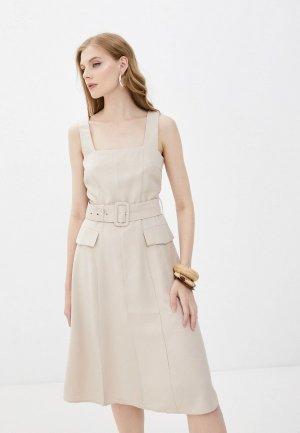 Платье Savage. Цвет: бежевый