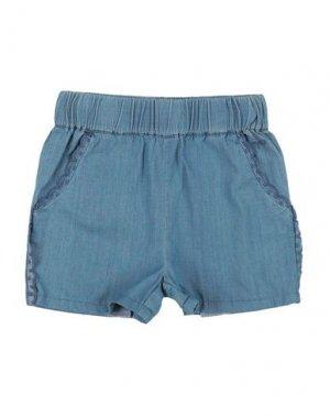 Джинсовые шорты LILI GAUFRETTE. Цвет: синий