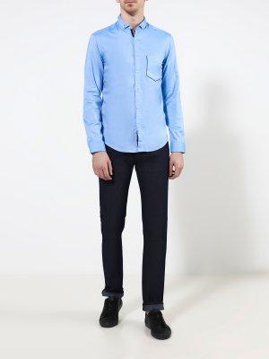 Рубашка с длинным рукавом Buxto BOSS. Цвет: goluboy