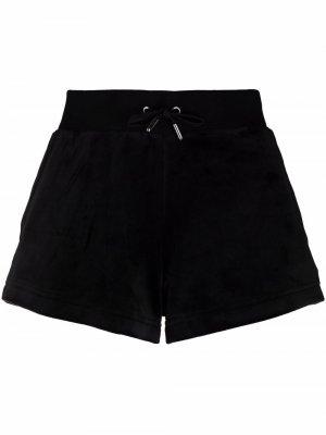 Спортивные шорты с кулиской Juicy Couture. Цвет: черный