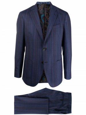 Костюм-двойка с однобортным пиджаком ETRO. Цвет: синий