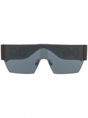 Солнцезащитные очки-маска без оправы Dolce & Gabbana Eyewear. Цвет: черный