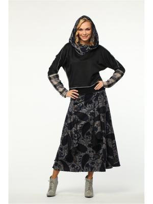 Костюм: юбка, джемпер KATA BINSKA. Цвет: синий
