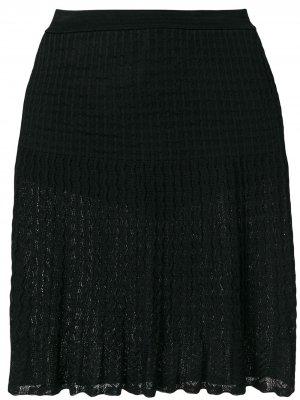 Плиссированная кружевная юбка Alaïa Pre-Owned. Цвет: черный