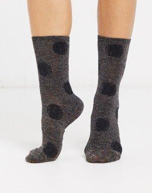 Носки в горошек -Черный Essentiel Antwerp
