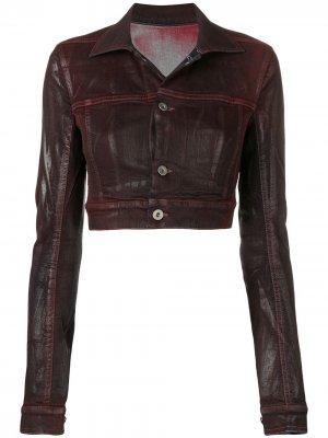 Укороченная джинсовая куртка Little Joe Rick Owens DRKSHDW. Цвет: розовый