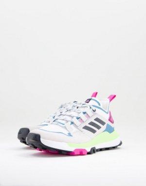 Разноцветные низкие кроссовки для пешего туризма adidas Outdoors Terrex Hikster-Multi performance