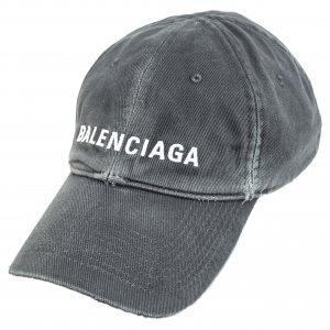 Серая кепка с вышитым логотипом Balenciaga