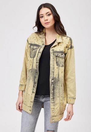 Куртка джинсовая DSHE. Цвет: желтый