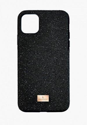 Чехол для iPhone Swarovski® 11 PRO MAX HIGH. Цвет: черный