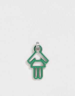 Женская подвеска diversity collection mix & match-Зеленый Benetton
