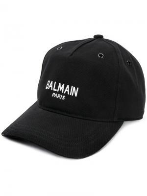 Кепка с логотипом Balmain. Цвет: черный