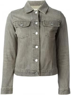 Классическая джинсовая куртка Helmut Lang Vintage. Цвет: серый