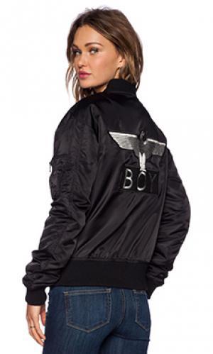Куртка бомбер ma1 BOY London. Цвет: черный