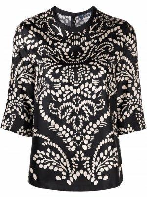 S Max Mara блузка с принтом пейсли 'S. Цвет: черный