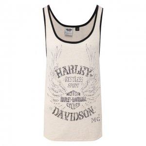 Майка Genuine Motorclothes Harley-Davidson. Цвет: белый