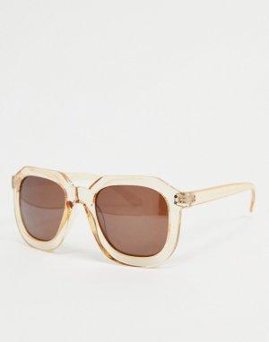 Солнцезащитные очки в прозрачной оранжевой оправе -Оранжевый цвет AJ Morgan