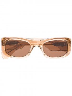 Солнцезащитные очки Ari в квадратной оправе Jacques Marie Mage. Цвет: нейтральные цвета