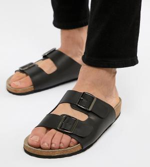 Черные сандалии с пряжками -Черный ASOS DESIGN