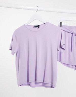 Пижамная футболка лавандового цвета от комплекта -Фиолетовый ASOS DESIGN