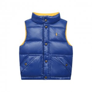 Двусторонний пуховый жилет Polo Ralph Lauren. Цвет: синий