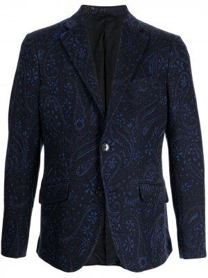 Пиджак с принтом пейсли ETRO. Цвет: синий