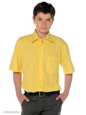 Рубашка Davani. Цвет: желтый