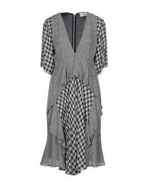 Платье до колена AU JOUR LE. Цвет: серый