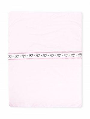 Одеяло с блестками Chiara Ferragni Kids. Цвет: розовый